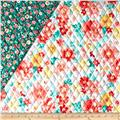 Sweetness Double Sided Quilted Coral/Green