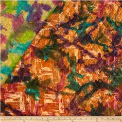 Indian Batik Double Face Quilted Abstract Multi