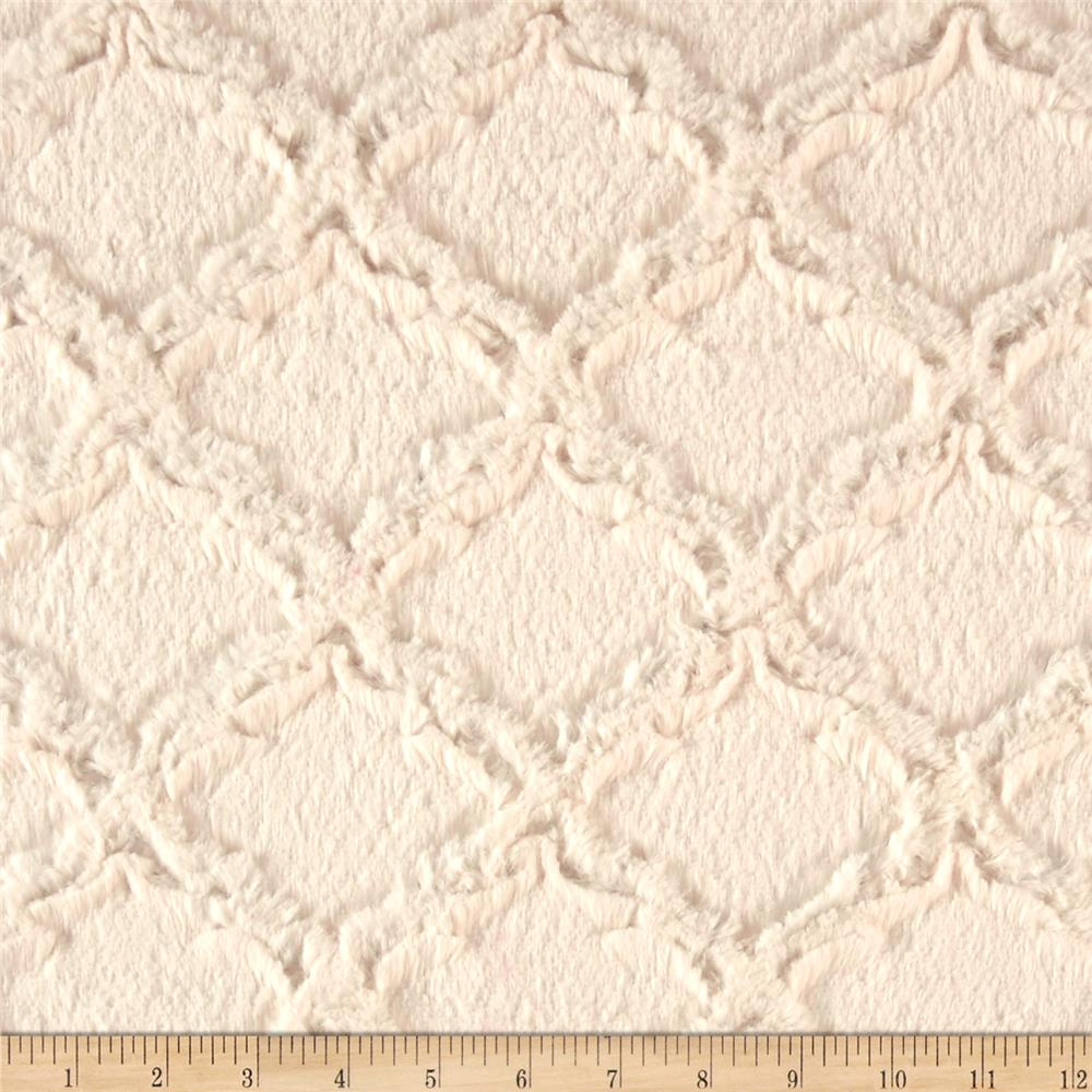 Shannon Minky Soft Lattice Cuddle Ivory