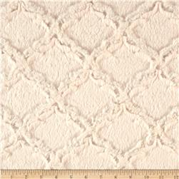 Minky Soft Lattice Cuddle Ivory Fabric