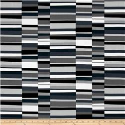 Kaufman Geo Pop Canvas Home Decor Hash Stripe