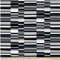 Kaufman Geo Pop Canvas Home Decor Hash Stripe Pepper