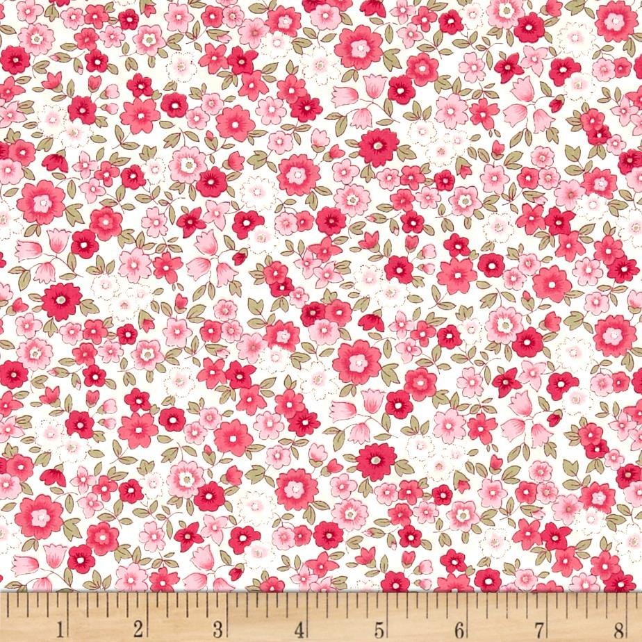 Kaufman Sevenberry Petite Garden Med Flower Spray Pink