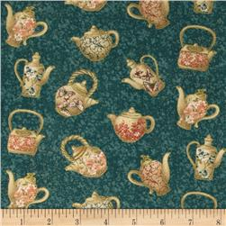 Tea House Tea Time Teal