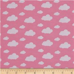 Dreamland Flannel Dream Clouds Pink Carnation