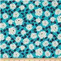 Sweet Florals Dotted Rose Turquoise