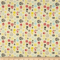 What's Cooking Floral Cream Fabric