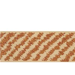 "Fabricut 2.75"" Diagonal Stripe Trim Bronze"