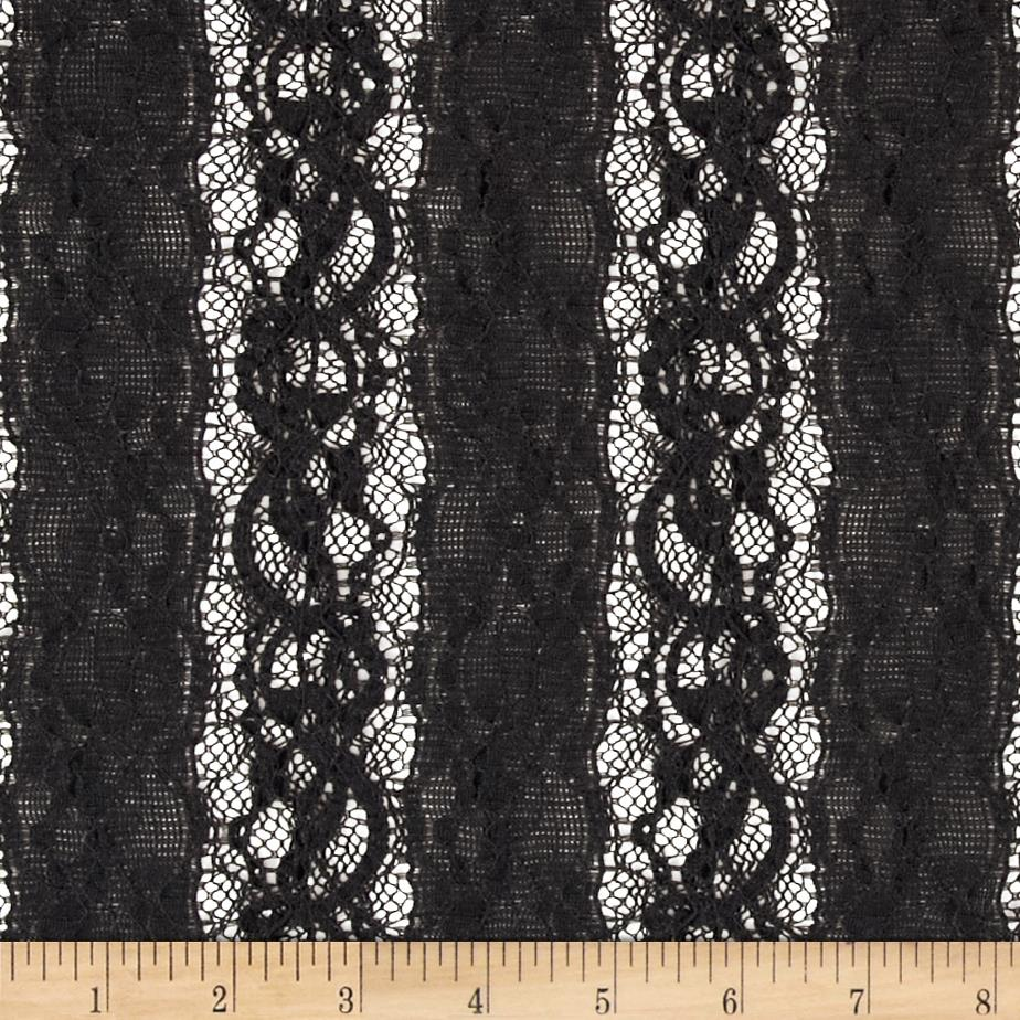 Designer Lace Stripes Black