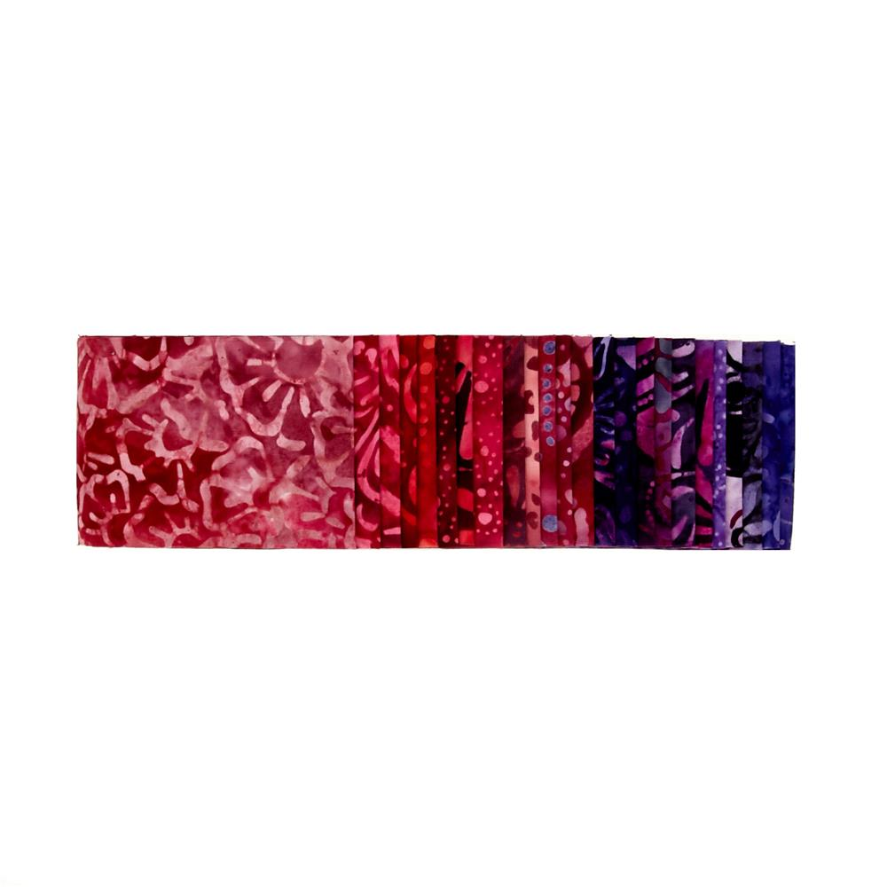 "Wilmington Batiks Vermillion-aire 2.5"" Strips"