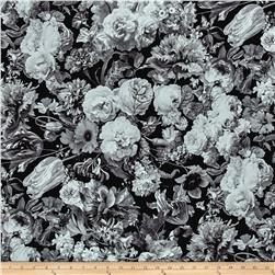 Mastery Digital Print Hoffman Challenge Floral Charcoal