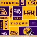 Collegiate Fleece Louisiana State University Gold/Purple