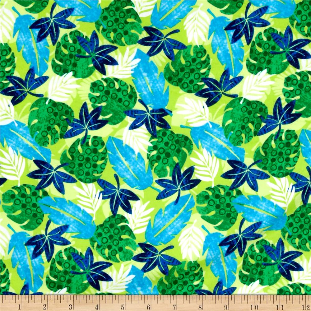 Dino-Myte Flannel Leaves Green