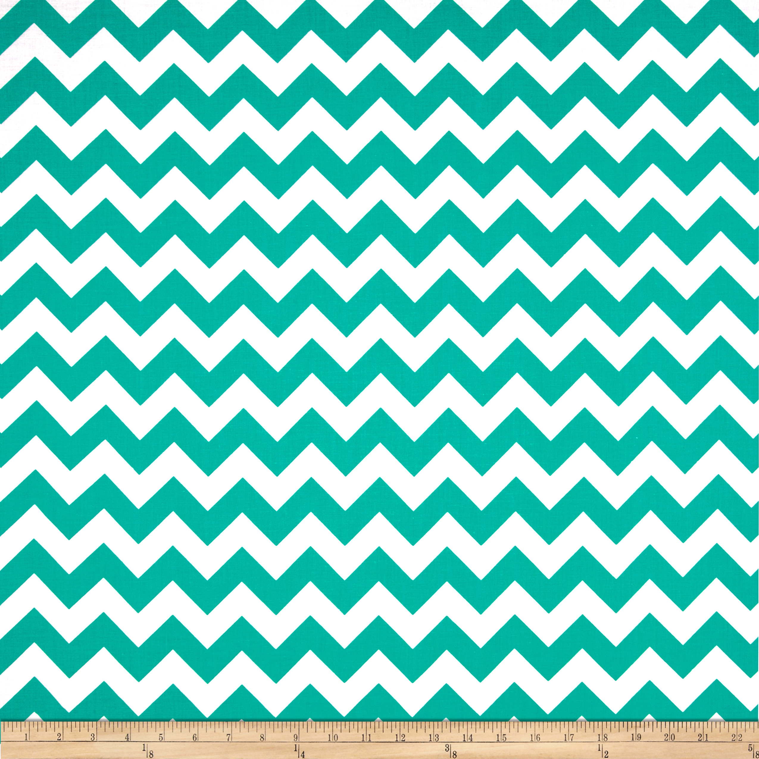 Blair Simple Chevron Emerald Fabric