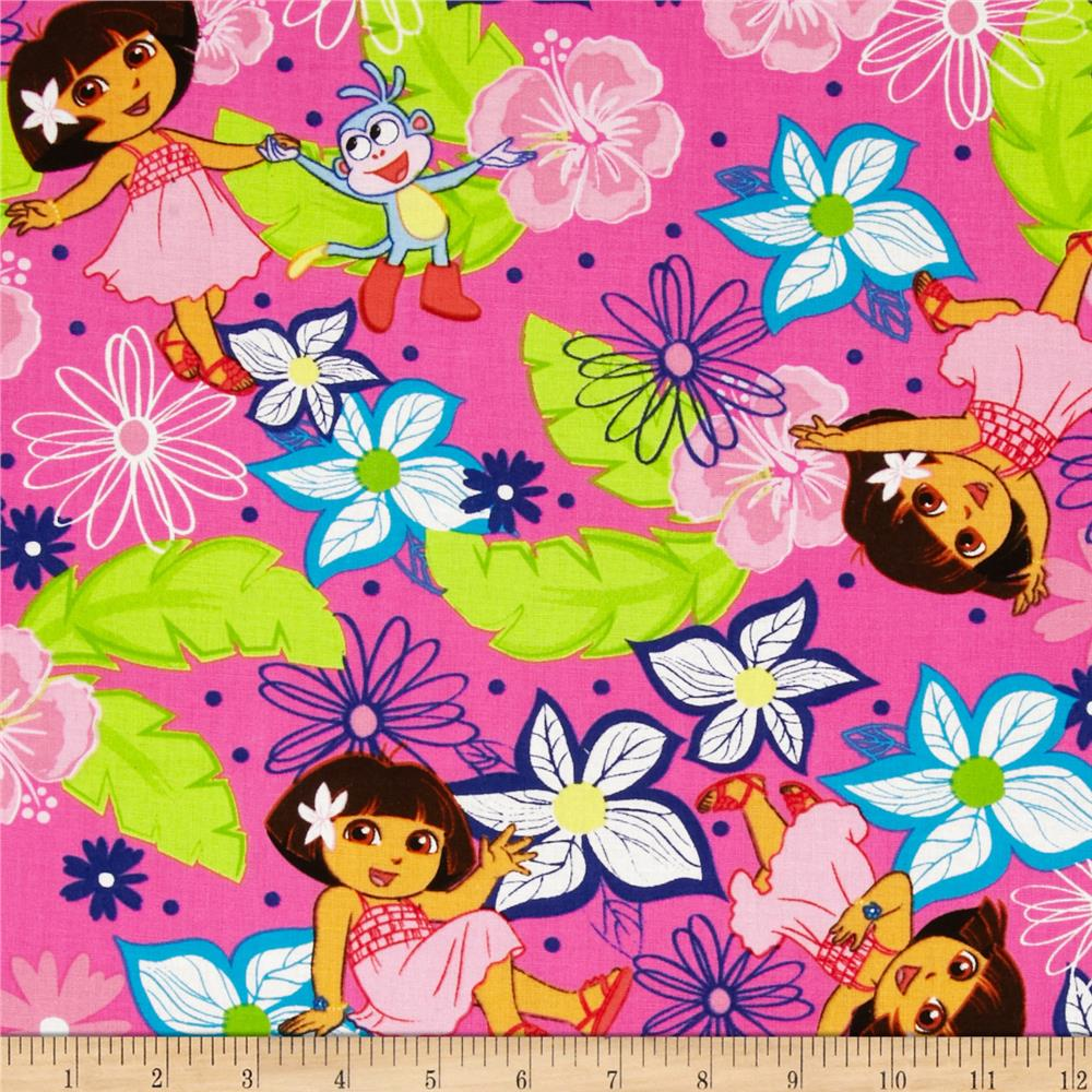Nickelodeon Dora A Day at the Beach Hawaiian Dora Pink