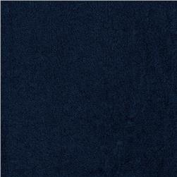 Terry Cloth Cuddle Navy Fabric