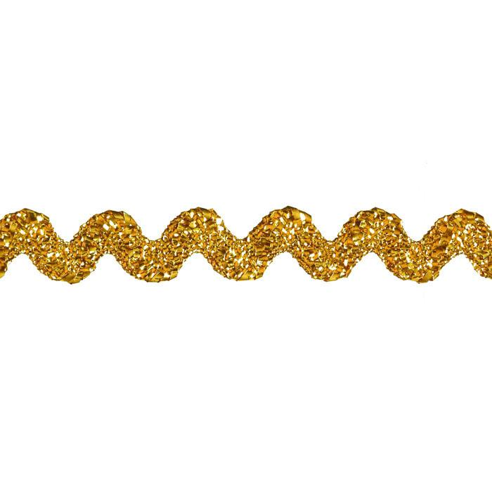 "3/8"" Metallic Ric Rac Ribbon Gold"