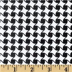 Jet Setter Geo Diamond Black Fabric