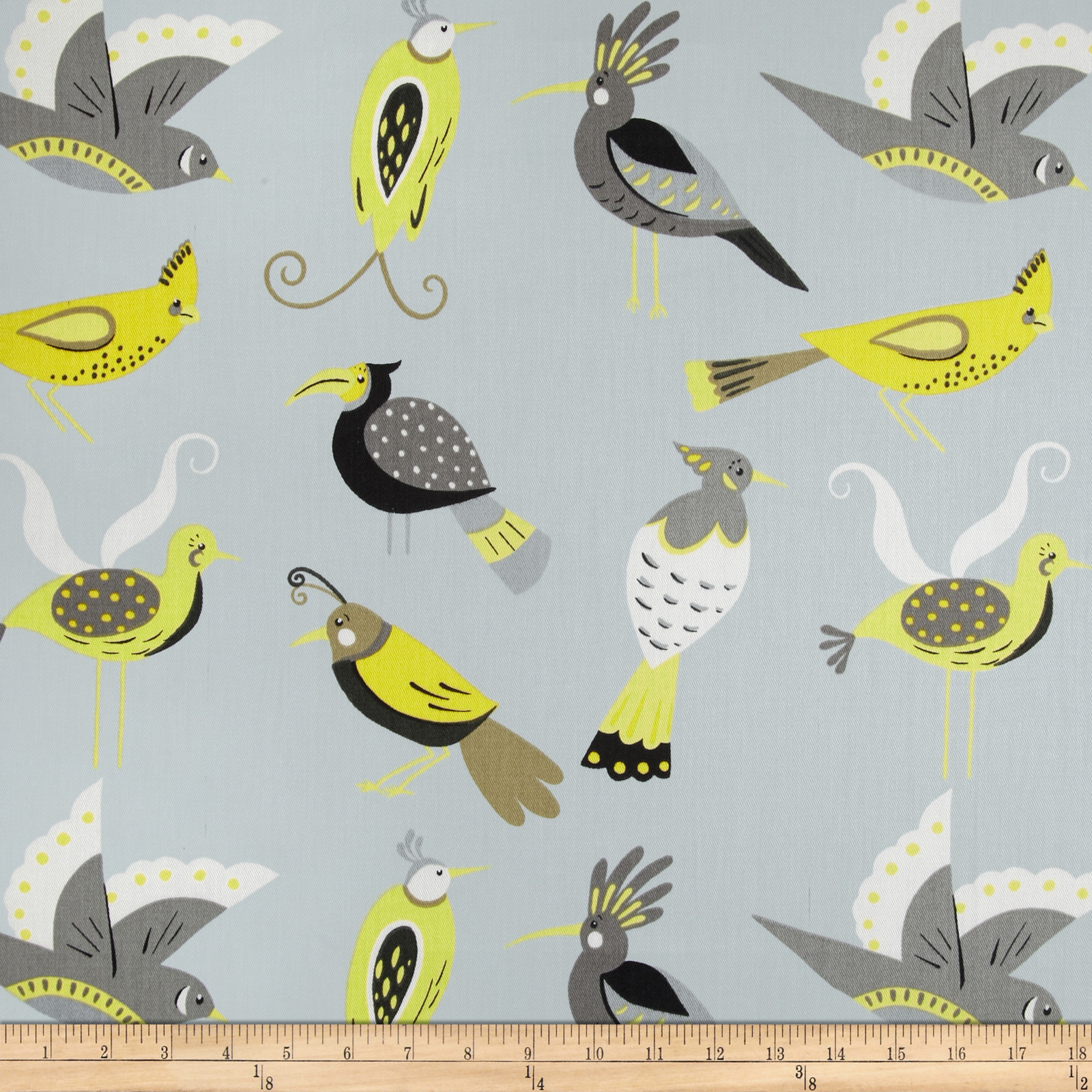 Waverly For the Birds Twill Lemon Fabric