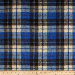 Fleece Print Plaid Blue/Brown/Black