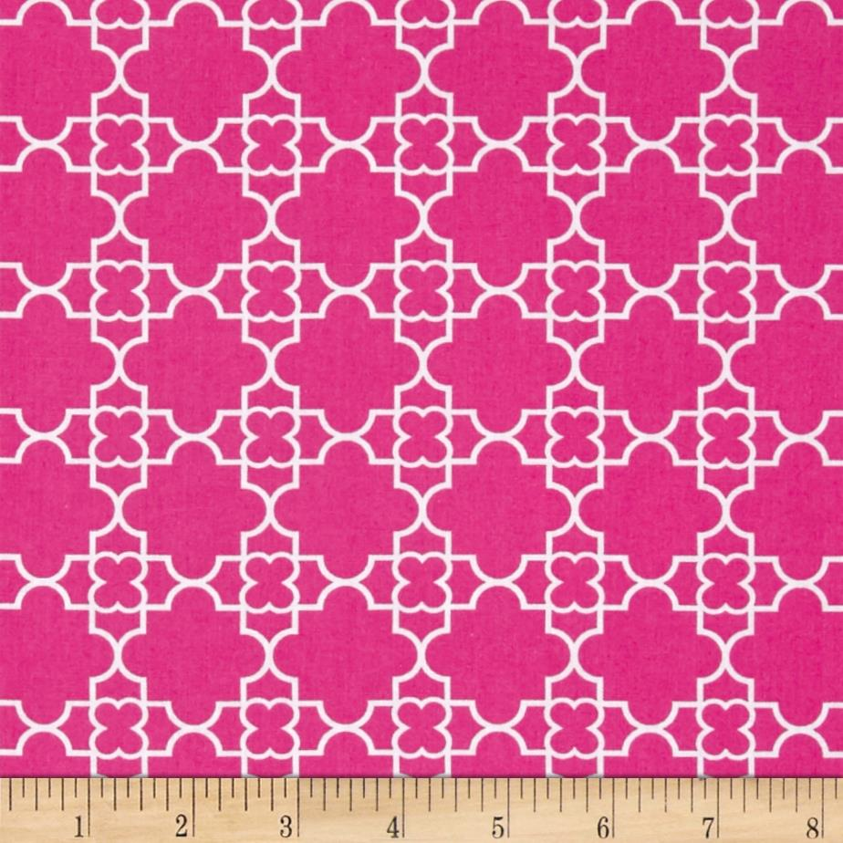 Timeless Treasures Fashionista Quatrefoil Pink
