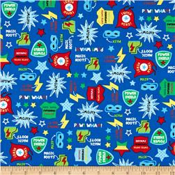 Timeless Treasures Boy Superheroes Motifs Blue