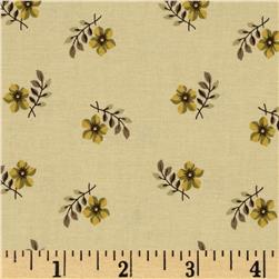 Tavern Collection Tossed Flowers Cream