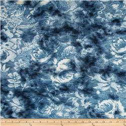 Onion Skin Knit Floral Blue/White