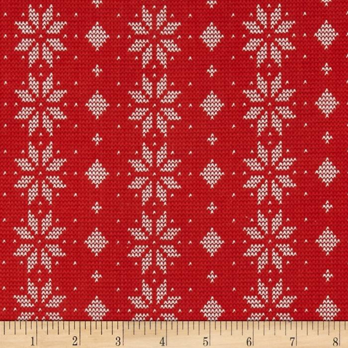 Cozy Christmas Geometric Red