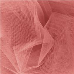 54'' Wide Tulle Coral Fabric