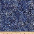 Island Batik Quilted in Honor Batik Patriotic Swirl Navy