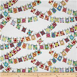 Shop Local Mini Quilts White Fabric