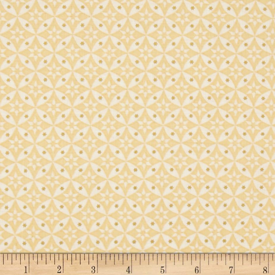 Celestial sol metallic star geometric butter discount for Celestial pattern fabric