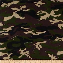 Designer Stretch ITY Jersey Knit Camo Green