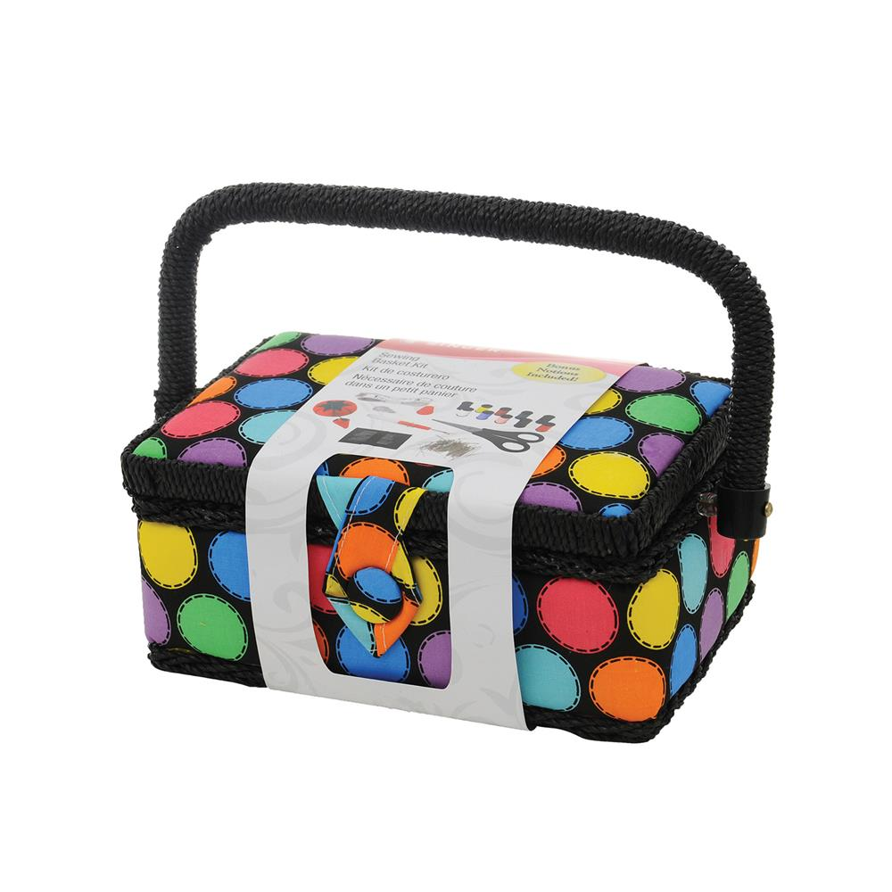 Singer Sewing Basket Bright Dots