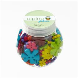 Alpine Button Jar Flower Bright