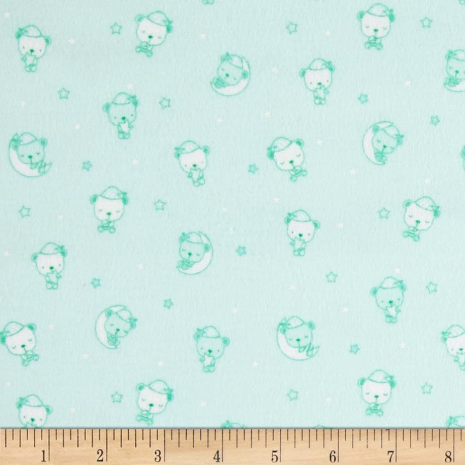 Beaux Be Be Flannel Sleeping Bears Mint