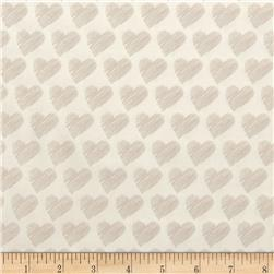Moda #Love Scribble Hearts White/Stone