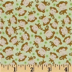 Riley Blake Snips & Snails Monkeys Green