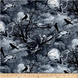 Timeless Treasures Ravens Grey