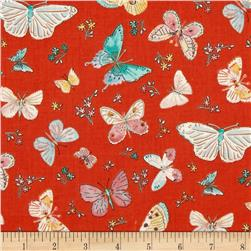Butterfly Garden Butterfly Toss Red