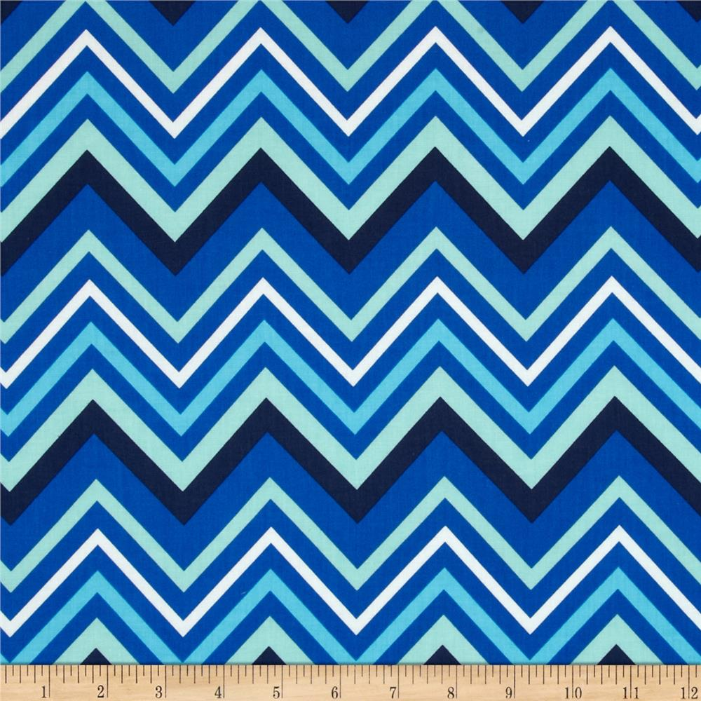 Singin' the Blues Chevron Multi