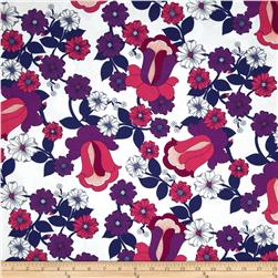 Auntie's Attic Floral Bloom Canvas Pink