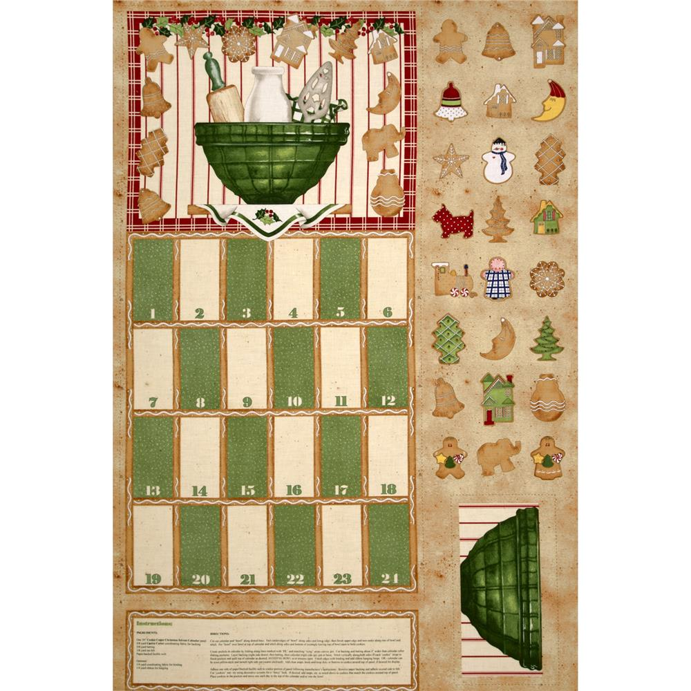 Holiday Baking Advent Calendar Panel Cream/Multi
