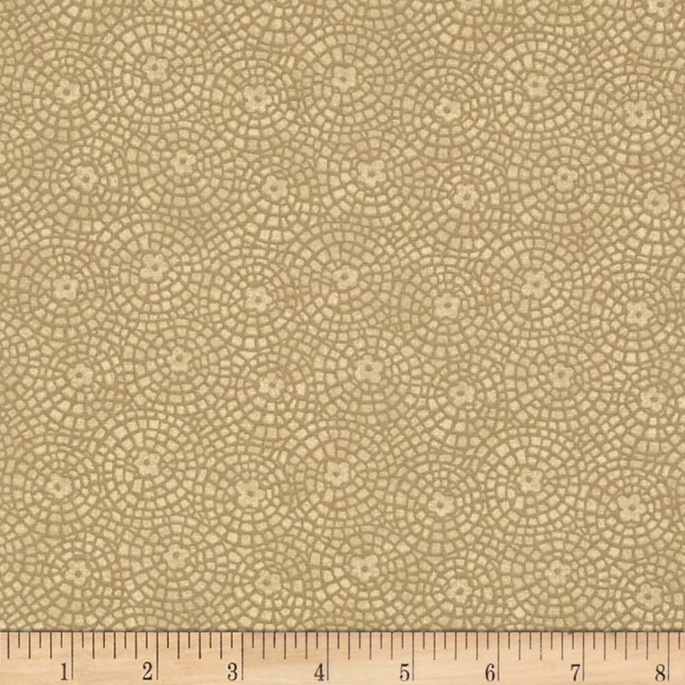 INOpets.com Anything for Pets Parents & Their Pets Sunshine Garden Tile Tan Fabric