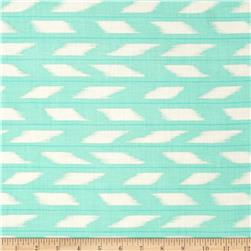 Rayon Challis Feathers Mint/White