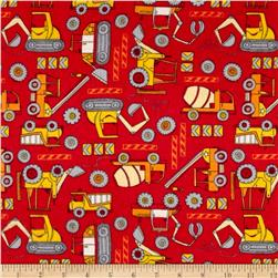 Flannel Construction Zone Red