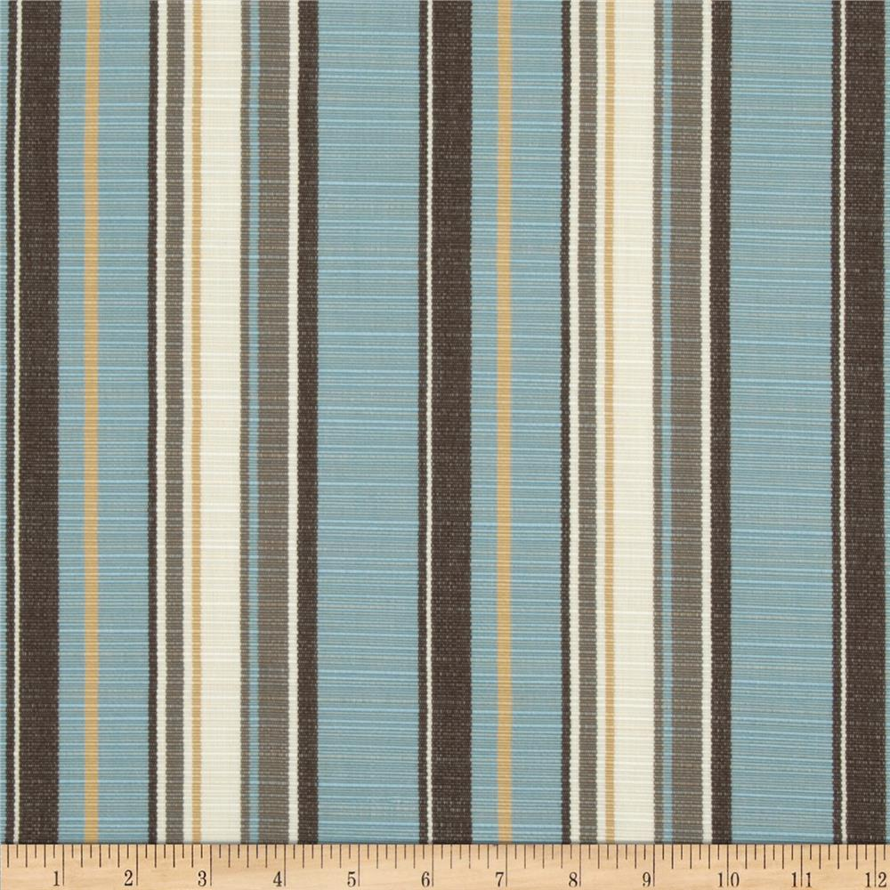 Sunbrella outdoor carnegie stripe celeste discount for Outdoor fabric