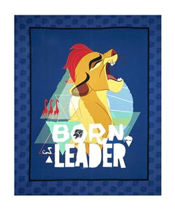 "Disney Lion Guard Born Leader 35"" Panel Navy"