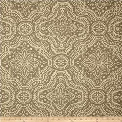 Premier Prints Dakota Damask Blend Taupe/Oatmeal Fabric